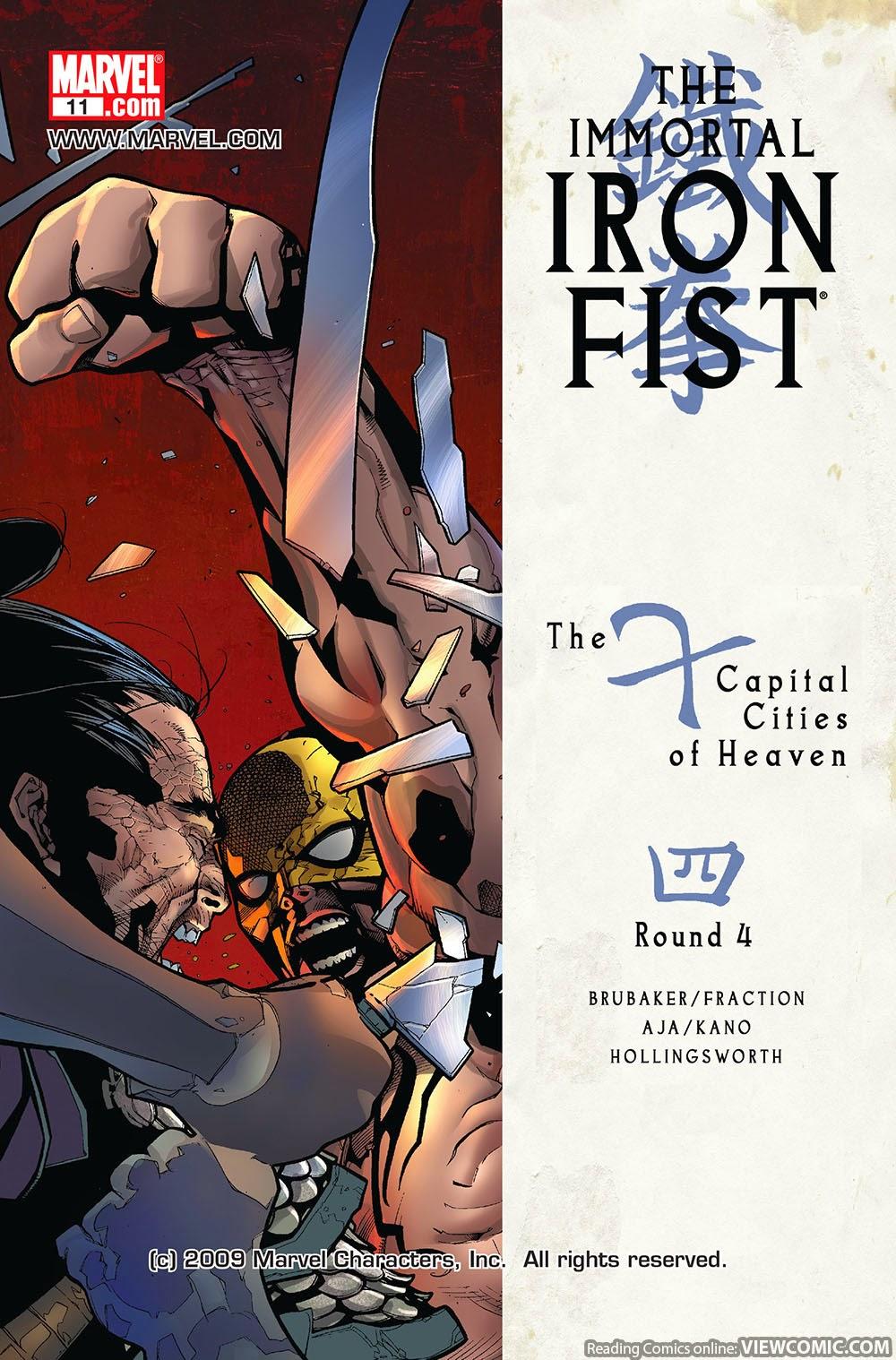 Seems the immortal iron fist 23