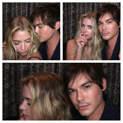 "PLL bts episode 7x11 ""Playtime"" Haleb photo Ashley Benson and Tyler Blackburn"