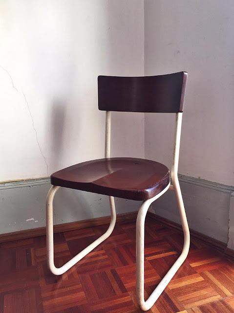 cadeira, vintage, hospitalar, portuguesa, anos 30