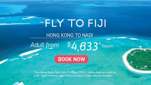另一個世外桃源!香港 直航 斐濟 (楠迪) $4633起 - 斐濟航空