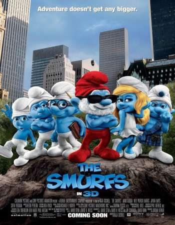 Poster Of The Smurfs 2011 Dual Audio 350MB BRRip 720p ESubs HEVC Free Download Watch Online downloadhub.in