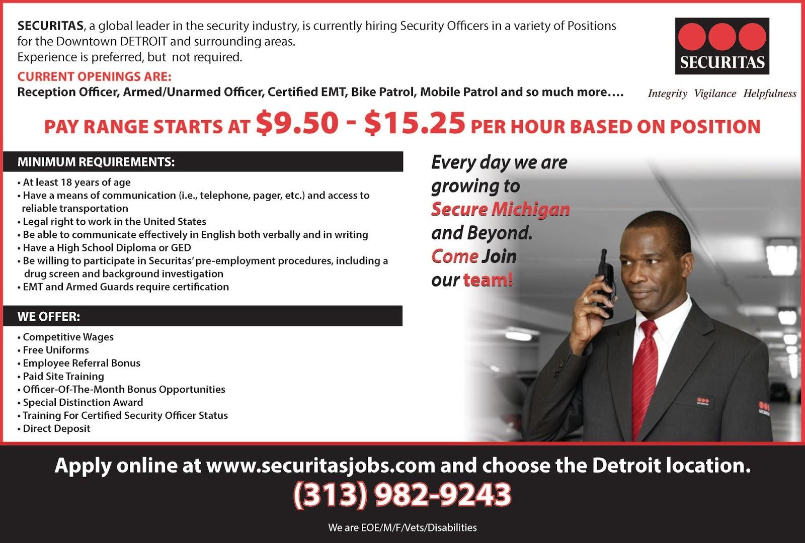 Securitas Jobs Openings