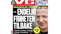 Faksimile av VG si framside 12. oktober 2018