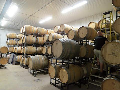 Coyote's Run Estate Winery Barrel Room
