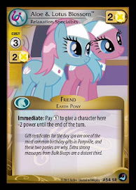 My Little Pony Aloe & Lotus Blossom, Relaxation Specialists High Magic CCG Card