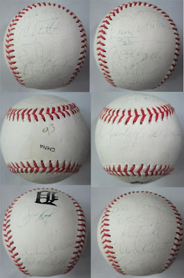 detroit tigers autograph baseball, entire team, 1993, salvation army, sold, bought
