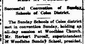 Prince William County Genealogy: Church Record Sunday