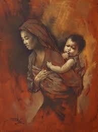 """Ibu dan Anak"", Basuki Abdullah"
