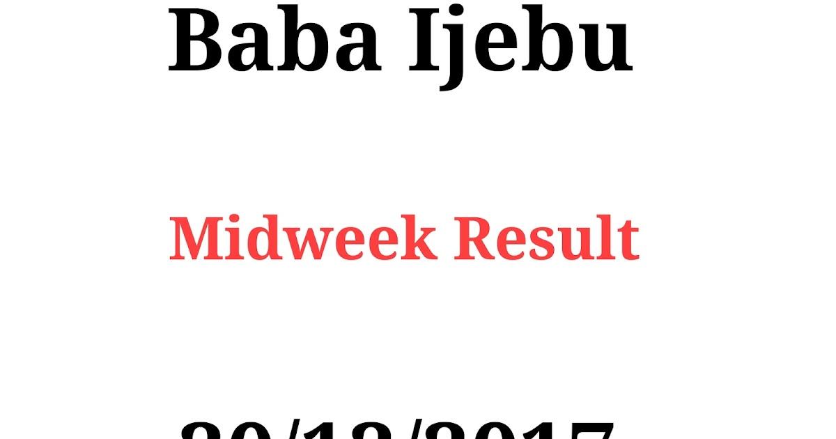 Baba Ijebu Lottery Midweek Result For 20/12/2017 - Rafiulotto