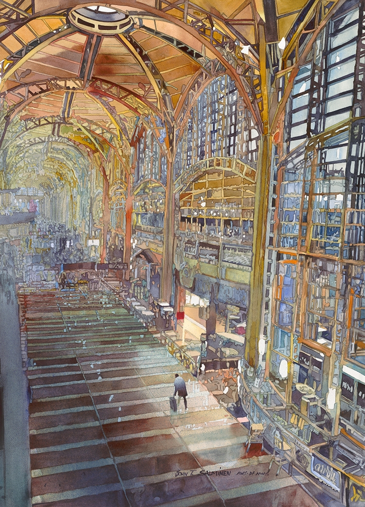 21-Washington-National-John-Salminen-Watercolor-Paintings-Taking-Glimpses-into-our-Life-www-designstack-co