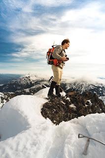 On the summit of Stowe Peak, Prince of Wales Range on Vancouver Island, Hiking