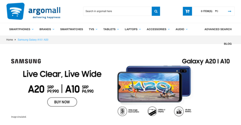 Samsung Galaxy A10, A20 now available on Argomall