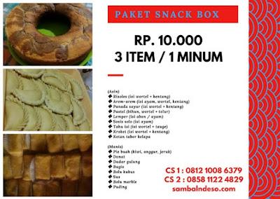 harga  order snack kotak isi 3 isi 4 di Bintaro