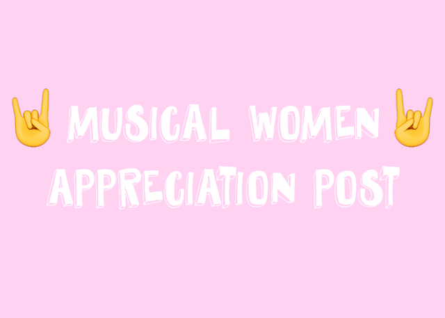 musical women appreciation post