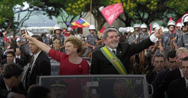 Posse de Lula em 1º de janeiro de 2003 (Foto: Divulgação/PT)