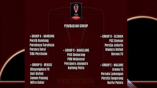 Grup Piala Presiden 2019: Persib Bandung di Grup A