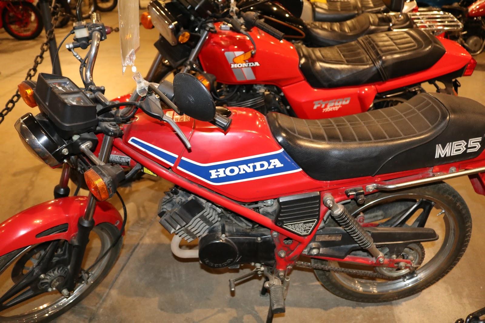 oldmotodude 1982 honda mb5 on display at the forney