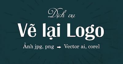 vẽ lại logo gốc vector từ hình ảnh