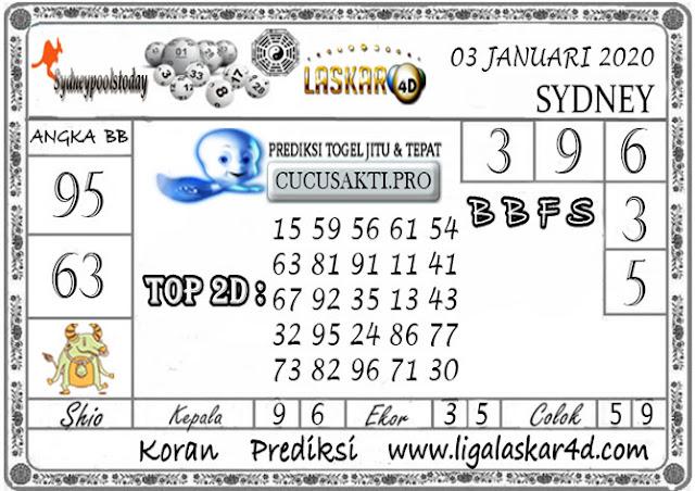 Prediksi Togel SYDNEY LASKAR4D 03 JANUARI 2020