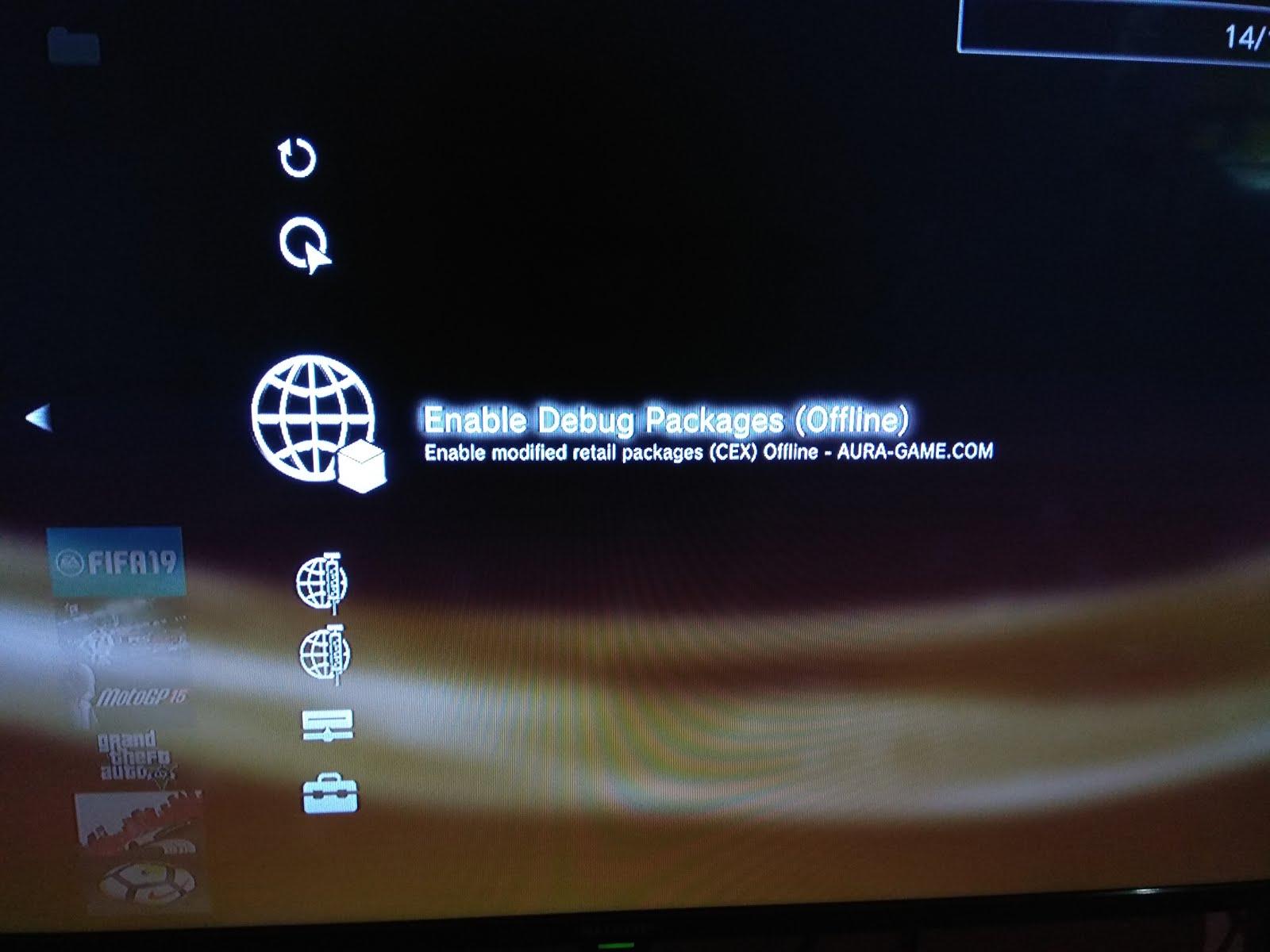 Mengaktifkan HAN dan Debug Package Secara Offline PS3