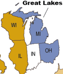 Covid-19 and Medicaid Enrollment in the Great Lakes Region