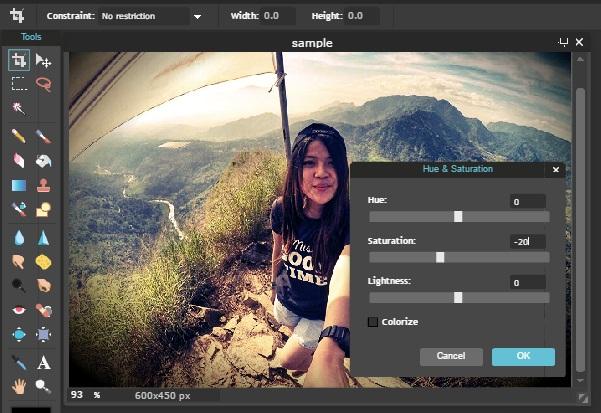 edit foto online curves editor