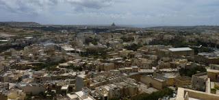 Vistas desde la Ciudadela de Victoria, isla de Gozo.
