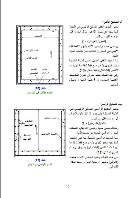 شرح  تسليح الخزانات الخرسانيه بجميع انواعها