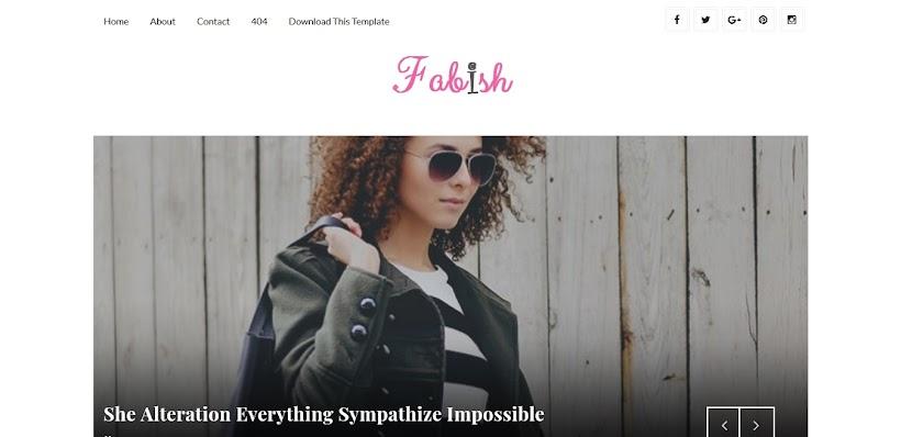 Fabish Free Blogger Template