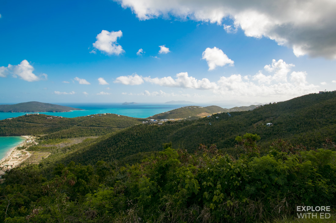The view over Magens Bay and British Virgin Islands