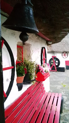 red bench,   Fairybridge cottage