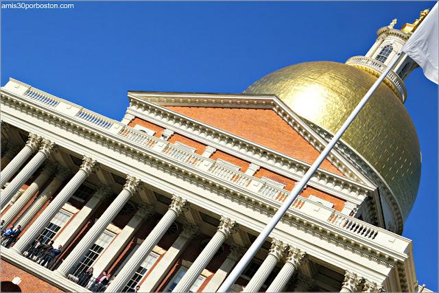 Massachusetts State House durante el Desfile de los New England Patriots