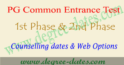 AUCET counselling dates 2018 au pgcet web options