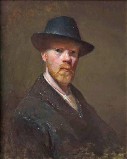 Michael Siegel, Self Portrait, Portraits of Painters, Fine arts, Painter Michael Siegel