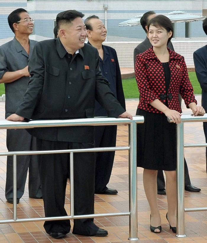 Kim Jung Un with wife Ri Sol Ju