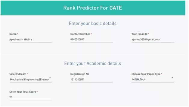 GATE Rank Predictor 2018 (ECE/EEE/CSE) Score Calculator, Predict Your Marks