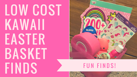 How to Make an UNDER $20 Low Cost Kawaii Girly Easter Basket!!