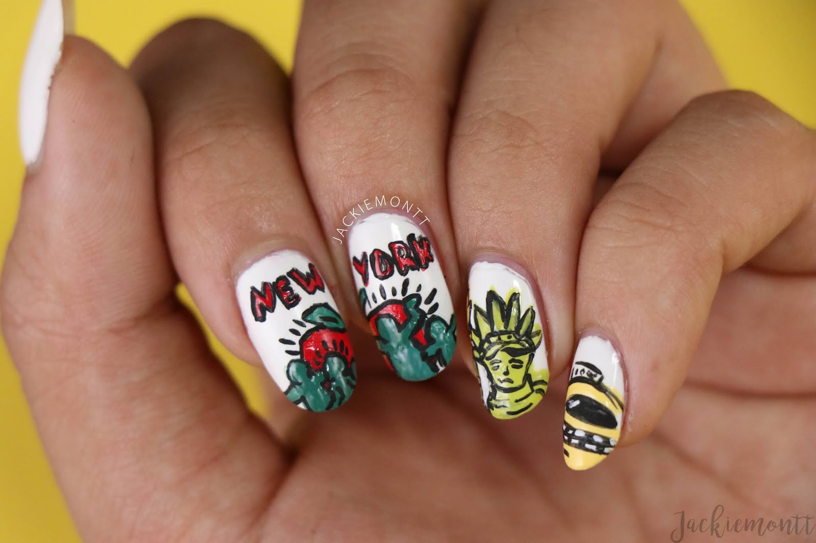 New York Nails Inspired By Keith Haring Jackiemontt
