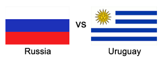 russia vs uruguay world cup 2018