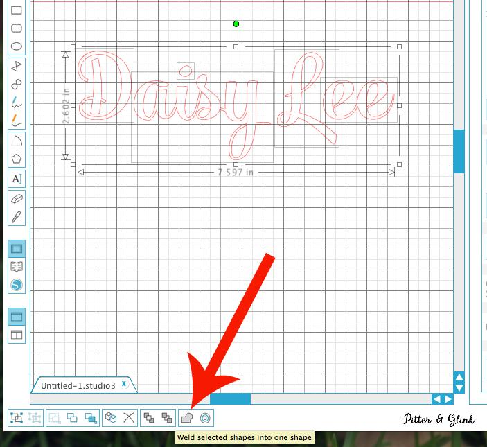 Welding letters in the Silhouette Design Studio to create a seamless phrase | pitterandglink.com