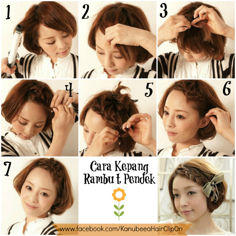 Cara+Kepang+Rambut+Pendek+Kanubeea+Hair+Clip+085745610055+