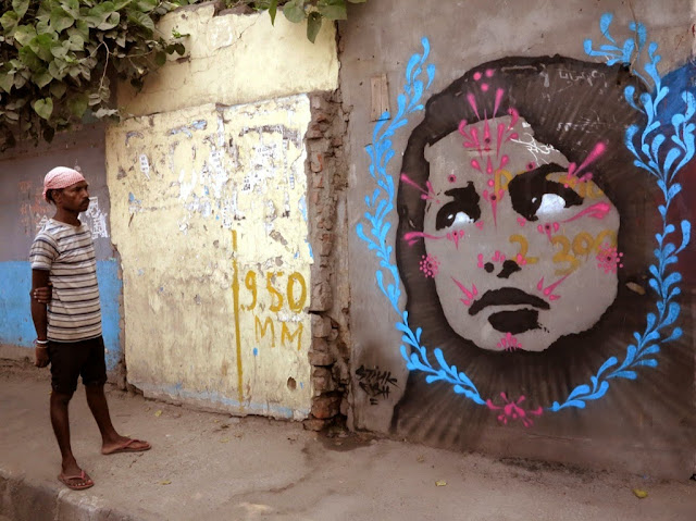 Colombian Street Artist Stinkfish Visits India Where He Dropped Several new Pieces. 5