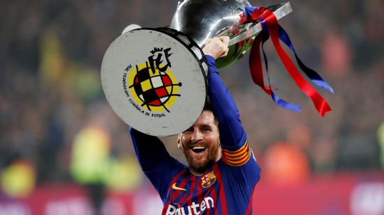 Lionel Messi FC Barcelona Win La Liga 2018 2019