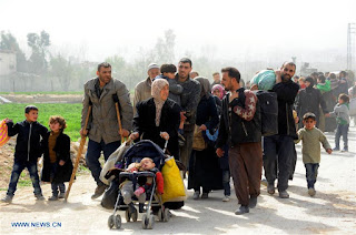 Evacuation of thousands of civilians from Ghouta