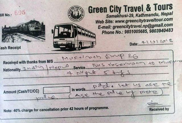 Reservation Kathmandu to Muktianth Jomsom Bus Bus