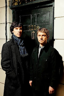 Benedict Cumberbatch and Martin Freeman in BBC Sherlock