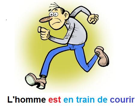 Présent continu - nagłówek - Francuski przy kawie