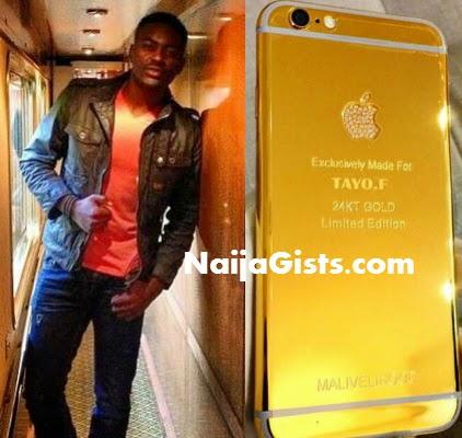 tayo faniran 24K gold iphone
