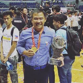 Coach Chot REyes  medal