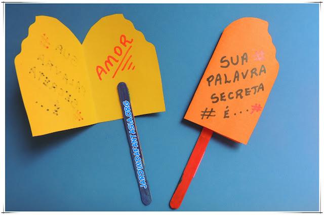 Cartão Criativo em formato de Picolé para trabalhar oralidade
